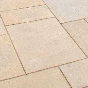 stone pavers pool patio - niagara blonde