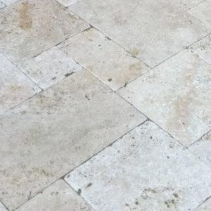 cape sands travertine paver close up