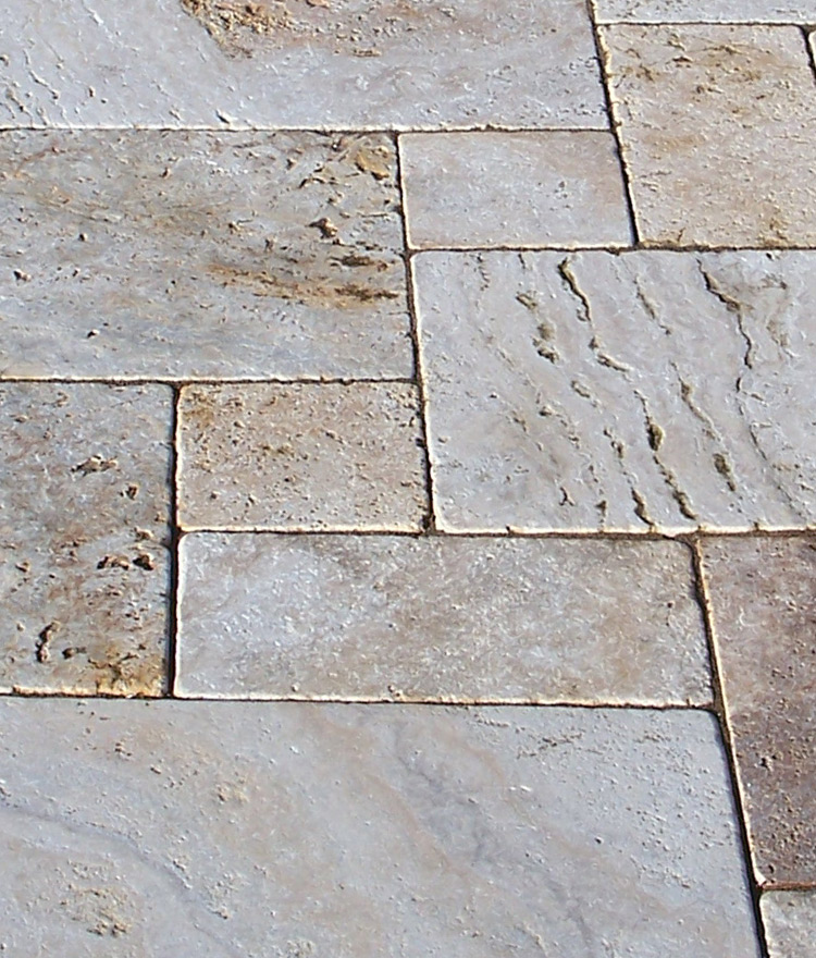 harvest wheat travertine stone paver close up