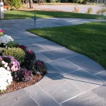 bluestone pavers walkway patio blue