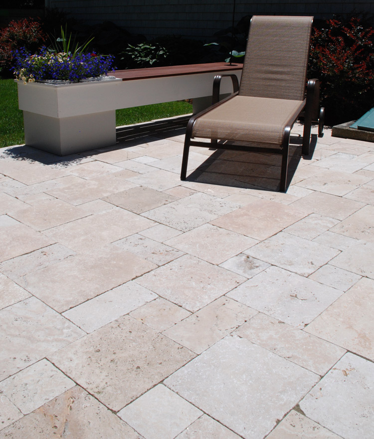 Cape Sands Travertine Paver Patio