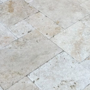 cape sands ivory travertine paver close up