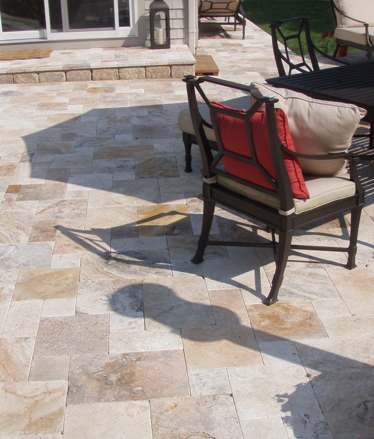 Harvest Wheat Travertine Pavers Patio Outdoor (2)