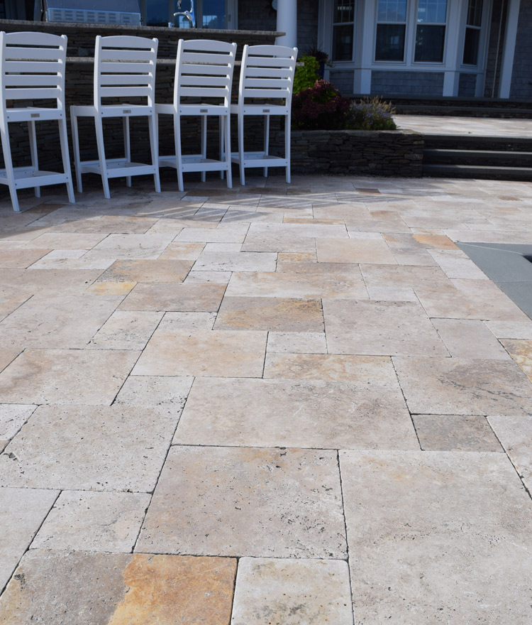 Terra Blend Travertine Pavers Patio Outdoor