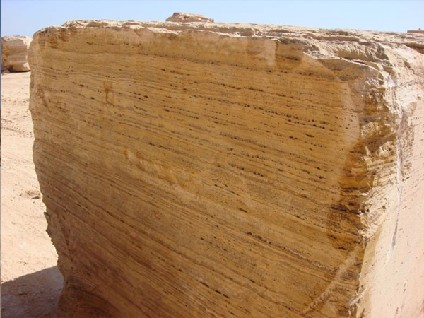 travertine stone block