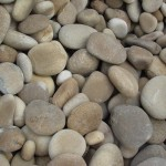 tan beach pebbles