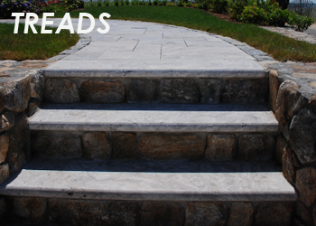 travertine stone treads