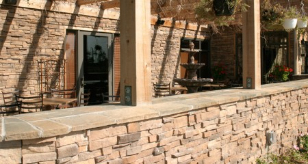 stone veneer outdoor installation