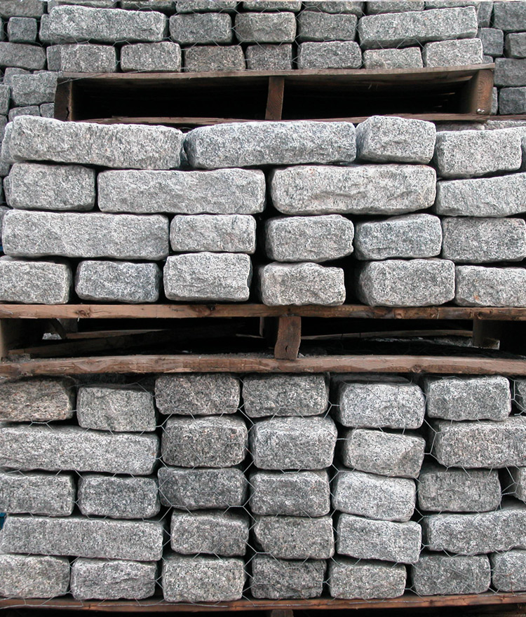 granite cobblestone pavers pallet