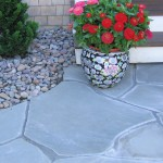 irregular bluestone pavers flagging walkway