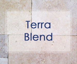 terra blend travertine stone pavers