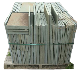 "Blue Stone Pavers - Pallet of 1"" Natural Cleft Variegated"