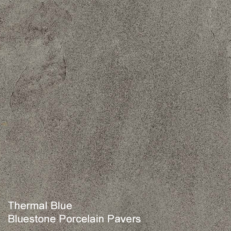 Pennsylvania Bluestone Porcelain Pavers Thermal Blue